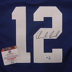 Andrew Luck Indianapolis Colts Signed Autographed Blue #12 Jersey Global COA