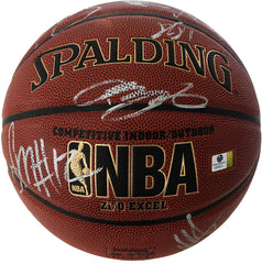 Cleveland Cavaliers Cavs 2015-16 NBA Champions Team Autographed Signed Spalding NBA Basketball Global COA Lebron Kyrie Love