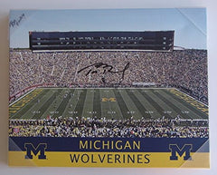 Tom Brady Michigan Wolverines Signed Autographed 16 x 20 Canvas
