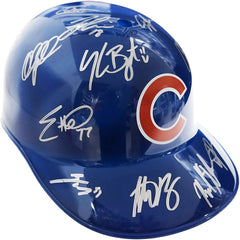 Chicago Cubs 2015 Team Signed Autographed Souvenir Full Size Batting Helmet AI COA Bryant Rizzo