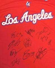 Los Angeles Clippers 2011-12 Team Autographed Signed Red Jersey Chris Paul Blake Griffin