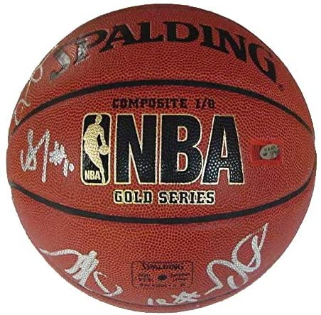 New Jersey Nets 2011-12 Team Autographed Signed Spalding Basketball PAAS COA