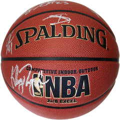 Golden State Warriors 2015-16 Team Autographed Signed Spalding NBA Basketball PAAS COA Stephen Curry Klay Thompson Draymond Green