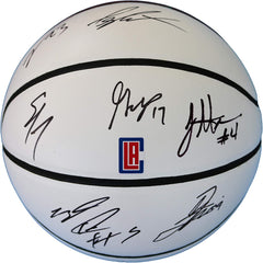 Los Angeles Clippers 2018-19 Team Autographed Signed White Panel Basketball - Lou Williams Montrezl Harrell