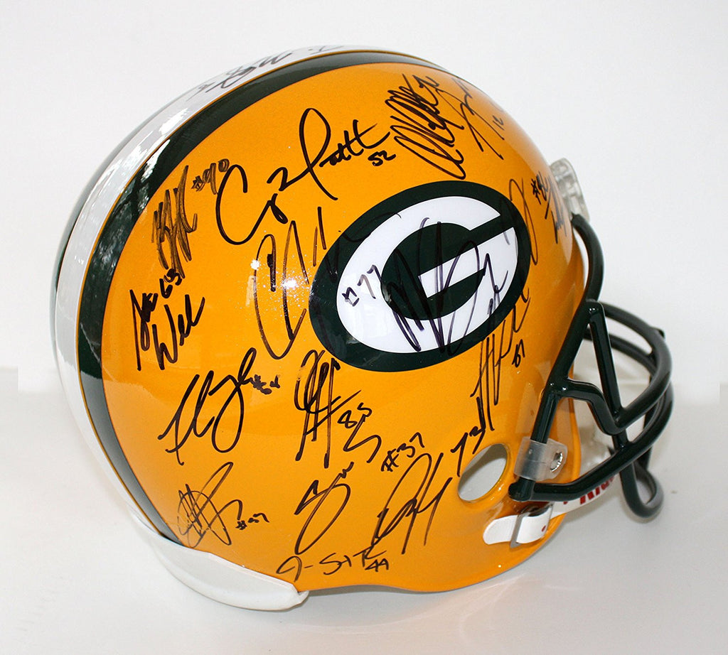 a229fe9d1b0 ... GREEN BAY PACKERS 2010-11 SUPER BOWL XLV CHAMPS TEAM SIGNED AUTOGRAPHED  RIDDELL FULL SIZE ...