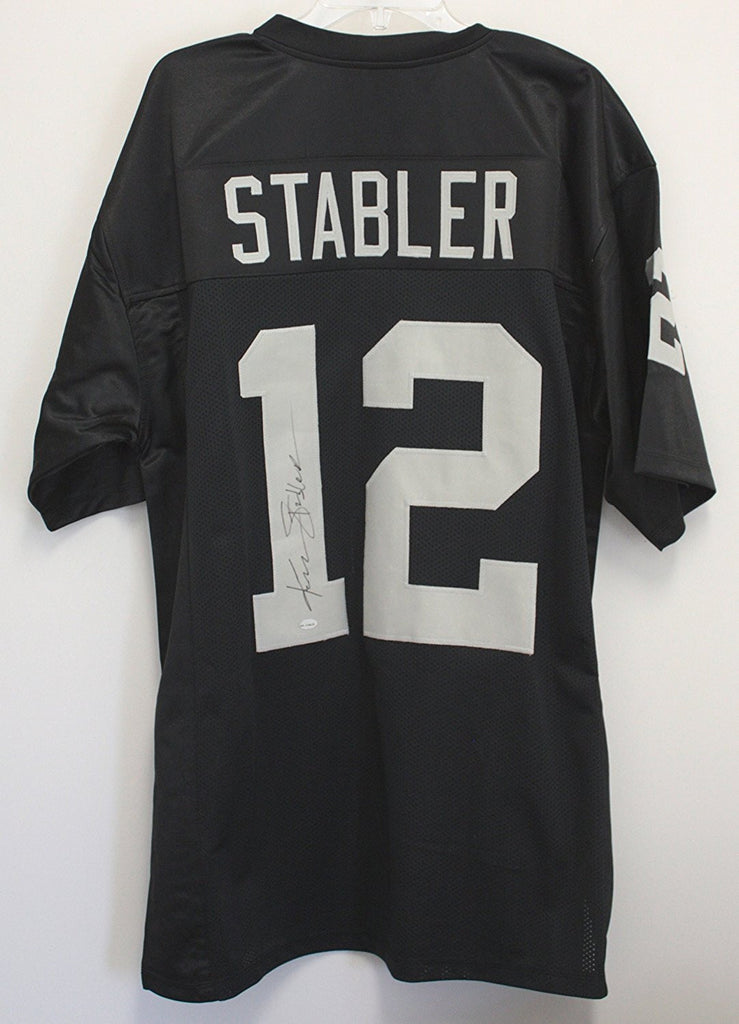 the latest 58a45 ace66 KEN STABLER OAKLAND RAIDERS SIGNED AUTOGRAPHED BLACK #12 ...