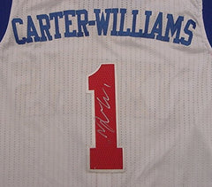 Michael Carter-Williams Philadelphia 76ers Signed Autographed White #1 Jersey Silver Auto