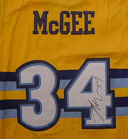 ... JAVALE MCGEE DENVER NUGGETS AUTOGRAPHED YELLOW 34 JERSEY SIZE XL ... 4b7796f8a