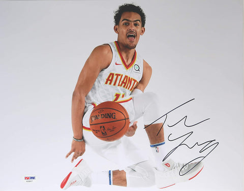 "Trae Young Atlanta Hawks Signed Autographed 11"" x 14"" Photo PSA COA"