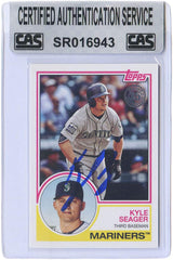Kyle Seager Seattle Mariners Signed Autographed 2018 Topps 35th Anniversary 1983 Design #83-34 Baseball Card CAS Certified