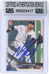 Nick Castellanos Detroit Tigers Signed Autographed 2018 Bowman #17 Baseball Card CAS Certified