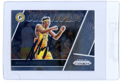 Myles Turner Indiana Pacers Signed Autographed 2017-18 Panini Prizm Get Hyped Fast Break #GH-MT Basketball Card
