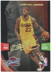 Lebron James Cleveland Cavaliers 2009-10 Panini Adrenalyn XL Ultimate Signature Insert Basketball Card