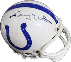 Johnny Unitas Baltimore Colts Signed Autographed Football Mini Helmet JSA LOA COA