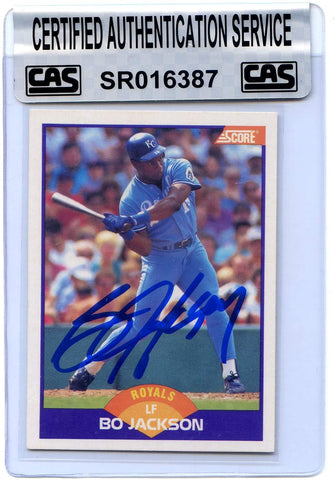 Bo Jackson Kansas City Royals Signed Autographed 1989 Score #330 Baseball Card CAS Certified