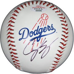 Cody Bellinger Los Angeles Dodgers Signed Autographed Rawlings Official Major League Logo Baseball PAAS COA with Display Holder