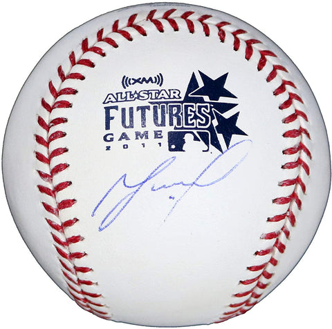 Jose Altuve Houston Astros Signed Autographed Rawlings All Star Futures Official Major League Baseball Global COA with Display Holder