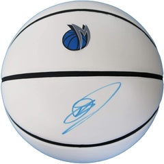 Dirk Nowitzki Dallas Mavericks Signed Autographed White Panel Basketball JSA COA