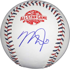 Mike Trout Los Angeles Angels Signed Autographed Rawlings 2018 All Star Game Official Baseball with Display Holder Global COA