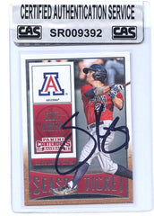 Scott Kingery Arizona Wildcats Philadelphia Phillies Signed Autographed 2015 Panini Contenders Draft #85 Baseball Card CAS Certified