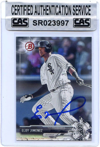 Eloy Jimenez Chicago White Sox Signed Autographed 2017 Bowman Draft #BD-72 Baseball Card CAS Certified