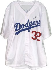 Sandy Koufax Los Angeles Dodgers Signed Autographed White #32 Custom Jersey LOA Global COA