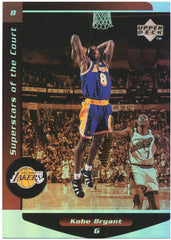 Kobe Bryant Los Angeles Lakers 1998-99 Upper Deck Ovation Superstars of the Court #C8 Insert Basketball Card