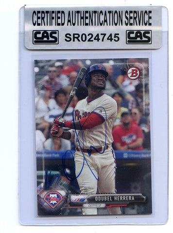 Odubel Herrera Philadelphia Phillies Signed Autographed 2017 Bowman #53 Baseball Card CAS Certified