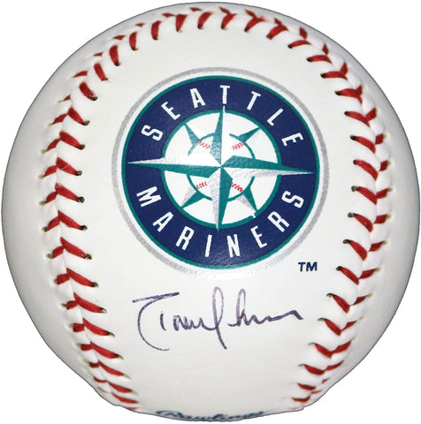 Randy Johnson Seattle Mariners Signed Autographed Rawlings Official Major League Logo Baseball Global COA with Display Holder