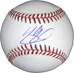 Yasmani Grandal Milwaukee Brewers Signed Autographed Rawlings Official Major League Baseball Witnessed LSC COA