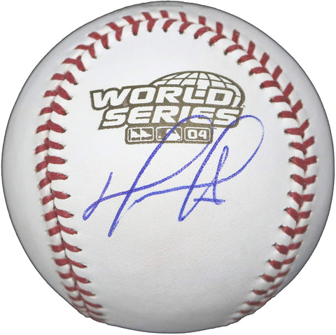 David Ortiz Boston Red Sox Signed Autographed Rawlings 2004 World Series Official Baseball Global COA with Display Holder