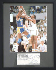 "Karl Malone Utah Jazz Signed Autographed 15"" x 12"" Framed Display CAS COA"