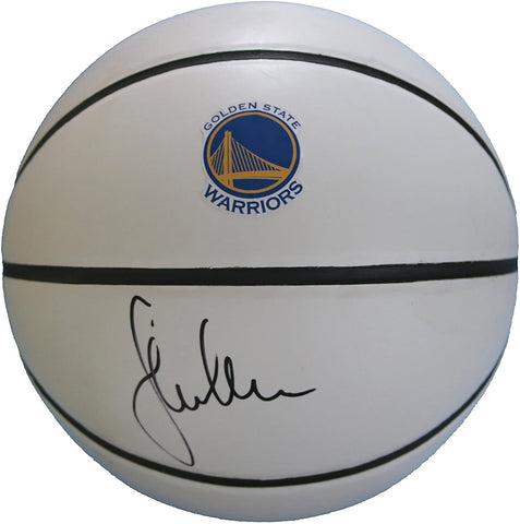 Steve Kerr Golden State Warriors Signed Autographed White Panel Basketball JSA COA