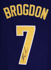Malcolm Brogdon Indiana Pacers Signed Autographed Blue #7 Jersey