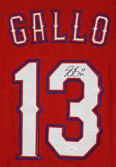Joey Gallo Texas Rangers Signed Autographed Red #13 Jersey JSA COA
