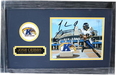 "Josh Cribbs Kent State Golden Flashes Signed Autographed 22"" x 14"" Framed Photo SGC COA"