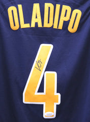 Victor Oladipo Indiana Pacers Signed Autographed Blue #4 Jersey JSA COA