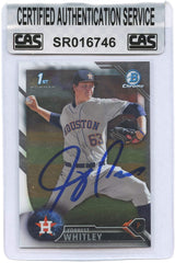 Forrest Whitley Houston Astros Signed Autographed 2016 Bowman Chrome #BDC-55 Baseball Card CAS Certified