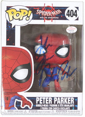 Jake Johnson Signed Autographed Peter Parker Spider-Man FUNKO POP #404 Vinyl Figure PAAS COA