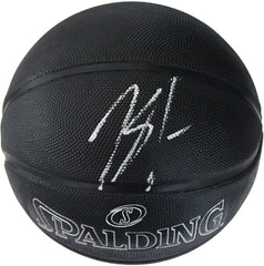 Karl-Anthony Towns Minnesota Timberwolves Signed Autographed Spalding NBA Black Street Phantom Basketball Beckett COA