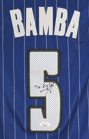 Mohamed Mo Bamba Orlando Magic Signed Autographed Blue #5 Jersey JSA COA