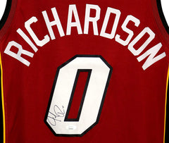 Josh Richardson Miami Heat Signed Autographed Red #0 Jersey JSA COA