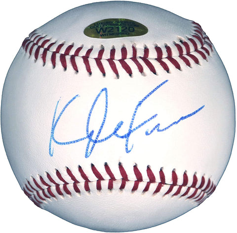 Kyle Farmer Cincinnati Reds Signed Autographed Rawlings Official League Baseball Witnessed LSC COA with Display Holder