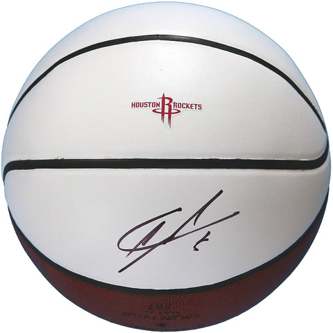 Clint Capela Houston Rockets Signed Autographed White Panel Basketball JSA COA