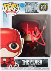 Ezra Miller Signed Autographed The Flash DC Justice League FUNKO POP #208 Vinyl Figure Global COA
