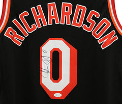 Josh Richardson Miami Heat Signed Autographed Black #0 Jersey JSA COA