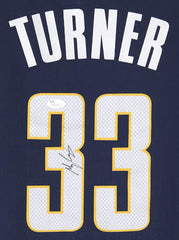 Myles Turner Indiana Pacers Signed Autographed Blue #33 Jersey JSA COA