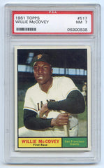 Willie McCovey San Francisco Giants 1961 Topps # 517 PSA 7 Graded Baseball Card