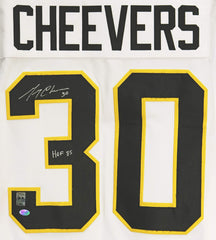 Gerry Cheevers Boston Bruins Signed Autographed White Winter Classic Retro #30 Custom Jersey Player Hologram