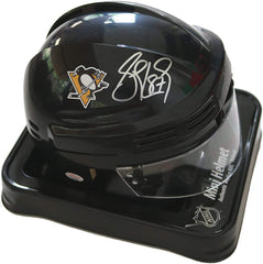 Sidney Crosby Pittsburgh Penguins Signed Autographed Black Mini Helmet PAAS COA